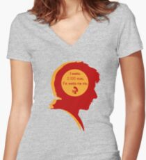 Rory silhouette Women's Fitted V-Neck T-Shirt