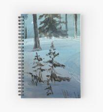 Snowy spruce Spiral Notebook