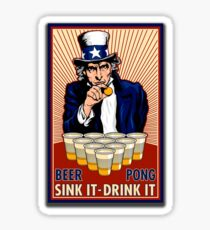 Beer Pong Sticker