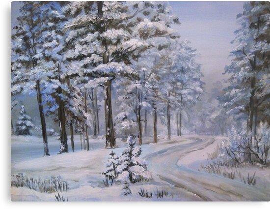 Winter road by Milartis