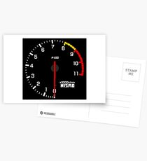 NISSAN スカイライン (NISSAN Skyline) R33 NISMO rev counter Postkarten