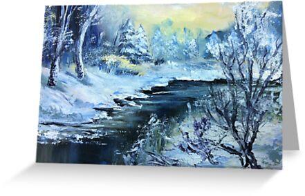 Winter river by Milartis