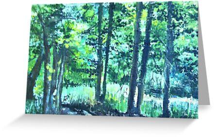 Through trees by Milartis
