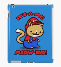 It's-a-me! Meow-rio! (Text ver.) iPad Case/Skin