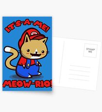 It's-a-me! Meow-rio! (Text ver.) Postcards