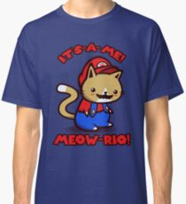 It's-a-me! Meow-rio! (Text ver.) Classic T-Shirt
