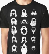 The Bearded Company White and Black Graphic T-Shirt