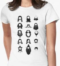 The Bearded Company Black and White Womens Fitted T-Shirt