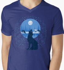 Snowy Howling Wolf T-Shirt