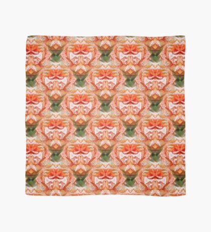Abstract Peach Rose Flower Scarf