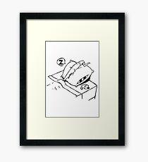 Earthworm Jim Takes a Nap Framed Print