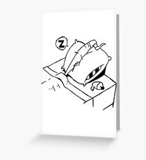 Earthworm Jim Takes a Nap Greeting Card