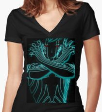Shin Megami Tensei DemiFiend Women's Fitted V-Neck T-Shirt