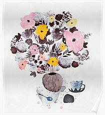 Afternoon Flowers Poster