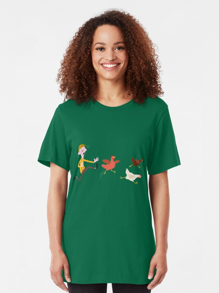 Alternate view of Chicken Run Slim Fit T-Shirt