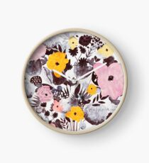 Afternoon Flowers Clock