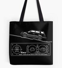 Toyota Tercel SR5 4WD Wagon AL25 BW Clinometer Tote Bag