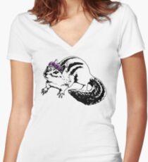 She'll Make A Benevolent Queen Women's Fitted V-Neck T-Shirt