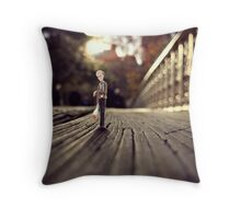 stood up - central park Throw Pillow