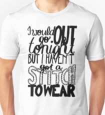 "This Charming Man The Smiths Quote ""I would go out tonight but I haven't got a stitch to wear"" Typography Unisex T-Shirt"
