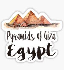 Pyramids of Giza watercolor Sticker