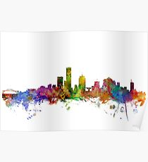 Milwaukee Wisconsin Skyline Poster