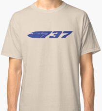 Boeing 737 Blue Classic T-Shirt
