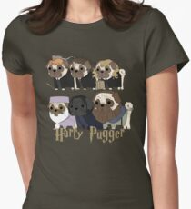 Harry Pugger Womens Fitted T-Shirt