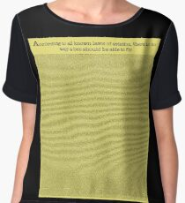 The Entire Bee Movie Script  Women's Chiffon Top