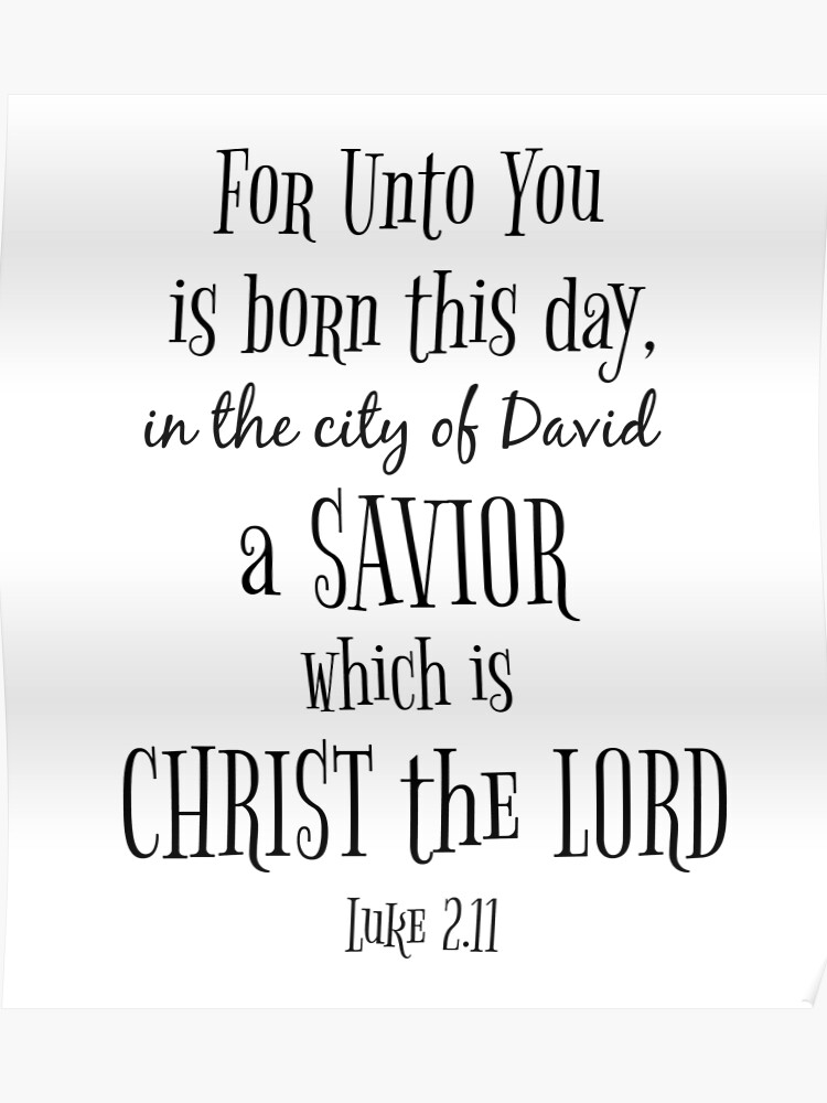 Christmas Bible Verse.Christmas Bible Verse Typography Poster