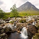 Buachaille Etive Mor and Coupall Falls by derekbeattie