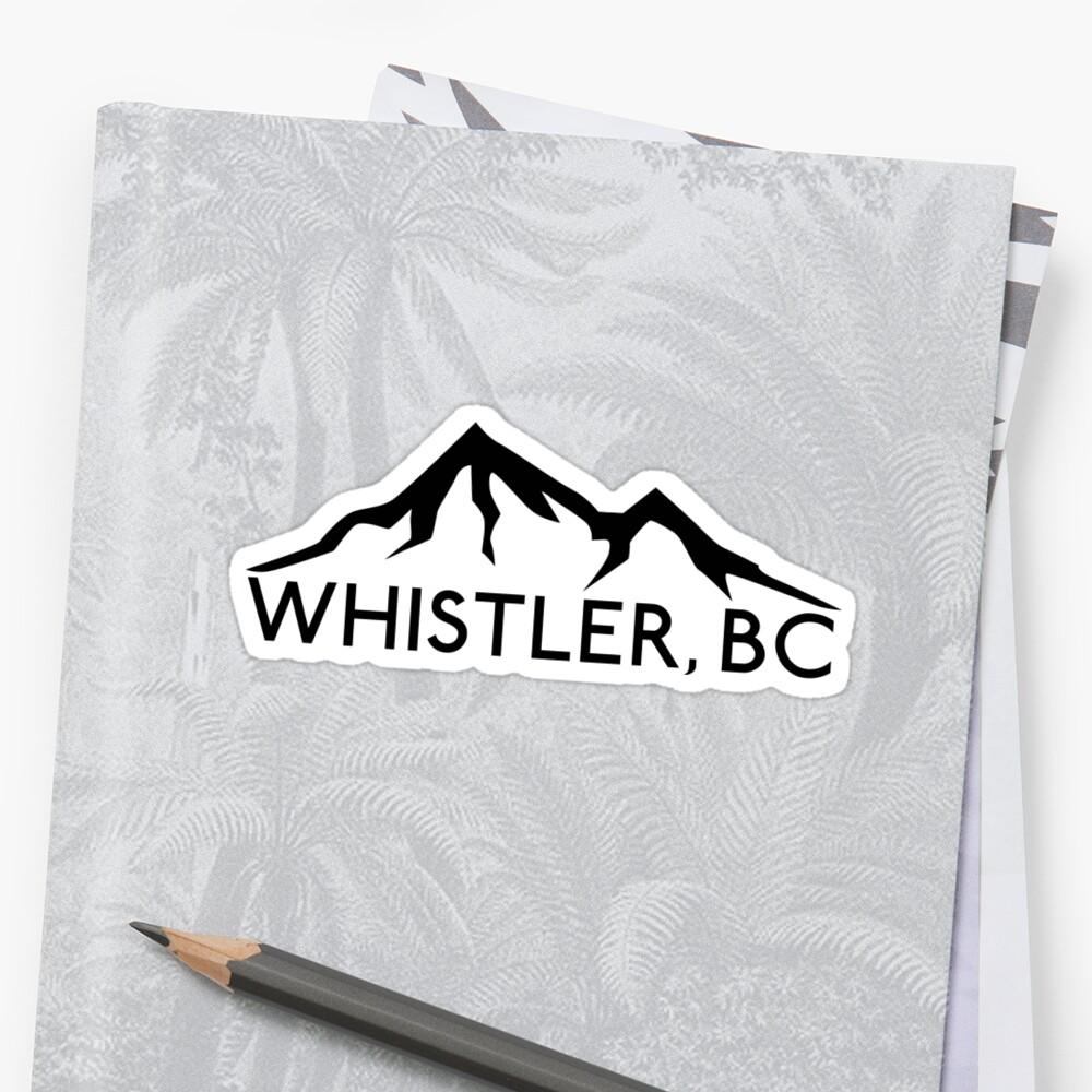 WHISTLER BRITISH COLUMBIA CANADA SKIING SNOWBOARDING MOUNTAINS SKI 4 by MyHandmadeSigns