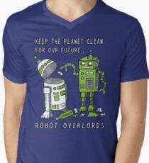 Robot Earth Men's V-Neck T-Shirt
