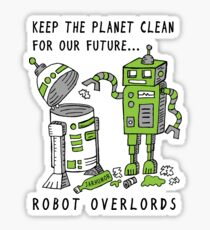 Robot Earth Sticker