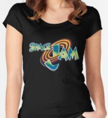 Space Jam Logo Design Women's Fitted Scoop T-Shirt