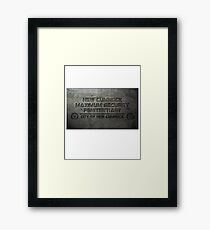 New Cumnock Penitentiary Plaque Framed Print