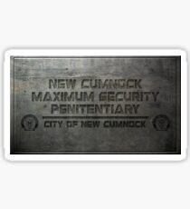 New Cumnock Penitentiary Plaque Sticker
