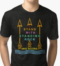 I stand with standing rock Tri-blend T-Shirt