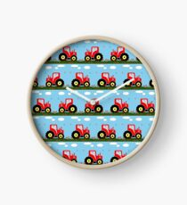 Toy tractor pattern Clock