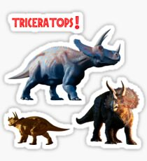 Triceratops - Various Poses Sticker