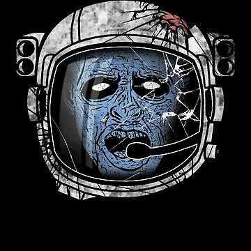 Zombie with Pilot Helmet by Funnydoneright