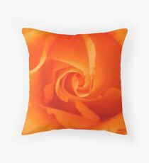 Beautiful Orange Rose Throw Pillow