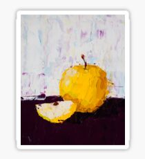 Shimmering Yellow Apple Sticker