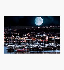 Super Moon Over Whitehaven, Cumbria Photographic Print