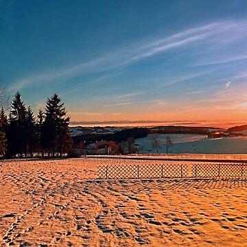 Colorful winter wonderland sundown IV | landscape photography by patrickjobst