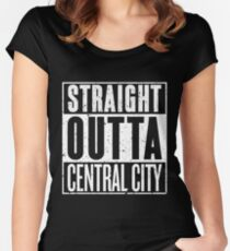 Straight Outta Central City Women's Fitted Scoop T-Shirt