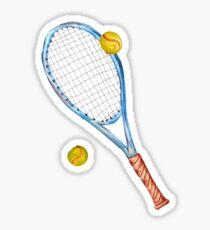 Tennisschläger mit Tennisbällen_3 Sticker