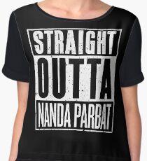 Straight Outta Nanda Parbat Chiffon Top