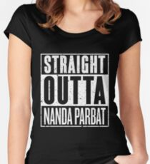 Straight Outta Nanda Parbat Women's Fitted Scoop T-Shirt
