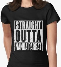 Straight Outta Nanda Parbat Womens Fitted T-Shirt